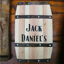 100 jack daniels home decor 25 in dia oak whiskey barrel