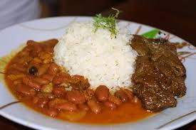 la cuisine de domi plato tipico de mi isla arroz habichuelas y carne la bandera ñam