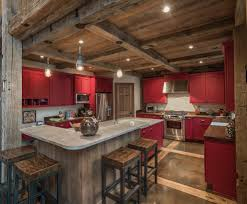 charleston industrial bar stools kitchen rustic with red cabinets