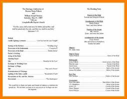 Wedding Programs Template 9 Wedding Programs Template Monthly Budget Forms