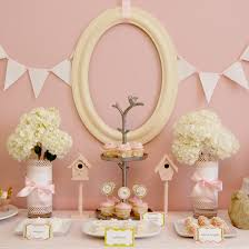pink bird themed baby shower popsugar moms