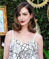 hairstyles for giving birth anne hathaway glows in a black and white floral dress 2 months