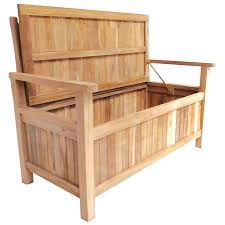 interior charles bentley teak garden storage benchb bench seat