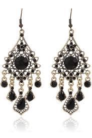 black dangle earrings black faux gemstone drop dangle earrings fashion earrings trendy