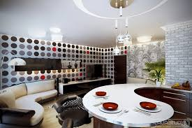 kitchen wallpaper designs ideas white black decor spotty wallpaper interior design ideas