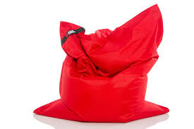 pouf daddy the daddy red large rectangle bean bag pouf daddy