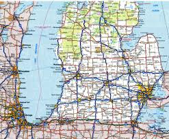 michigan state highway map michigan map
