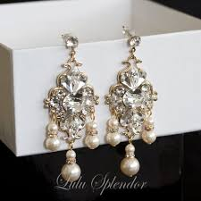 and pearl chandelier earrings 32 best gold images on wedding hair accessories