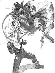 ghost rider coloring pages psf random hero 7 vs skothu23 ghost rider vs spawn