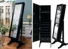 floor length mirror cabinet jewelry box mirror stand black mirrored cabinet modern standing