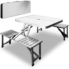 aluminium camping folding table and chairs set outdoor bbq picnic