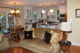 open floor plan living room and kitchen home design ideas