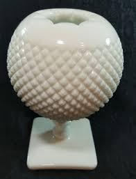 vintage westmoreland milk glass ivy bowl english hobnail vase
