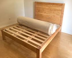 Bedframe With Headboard Diy Bed Frame And Wood Headboard A Of Rainbow