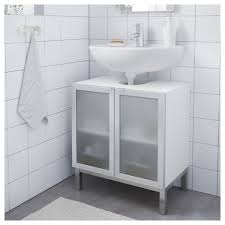 LILLÅNGEN Washbasin Base Cabinet W  Doors Whitealuminium - Bathroom basin and cabinet 2