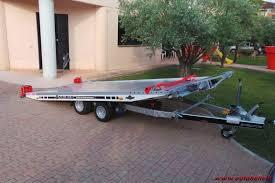 carrello porta auto vendo rimorchio carrello trasporto auto in alluminio 500 223404