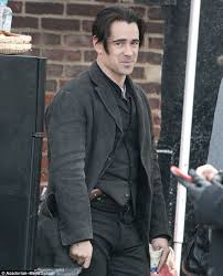 irish hairstyles for men shaved on sides long on top colin farrell reveals much shorter haircut on the set of winter s