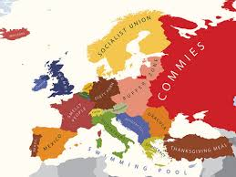 european map according to americans