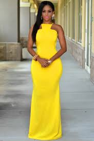 sexi maxi dress yellow daring open back maxi dress lc60465y 12 99