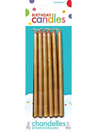 birthday candles gold birthday candles 12ct party city