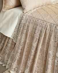 Beige Coverlet Sweet Dreams Queen Elizabeth Skirted Coverlet