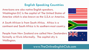 english speaking countries countries and nationalities youtube