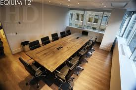 Wooden Boardroom Table Reclaimed Wood Boardroom Table Toronto 8 Blog