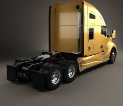 kenworth truck tractor kenworth t680 tractor truck 3 axle 2012 3d model hum3d