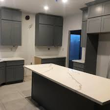espresso kitchen cabinets with white countertops ecs03 calacatta white quartz countertop