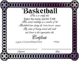 template award sports certificates word