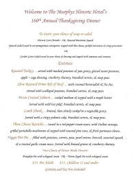 make your thanksgiving dinner historic at the murphys hotel the