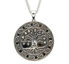 medallion necklace silver images Tree of life trinity medallion necklace large size jpg