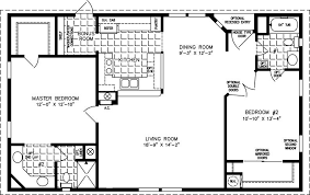 1000 sq house plans the tnr 4446b manufactured home floor