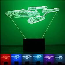 3d Lamps Amazon Lotos Star Trek Battleship 3d Optical Illusion Multi Colored