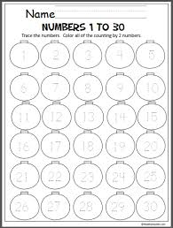 ornaments number writing 1 30 madebyteachers