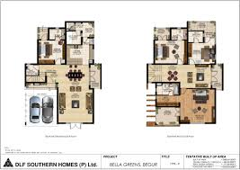 dlf bella greens off bannerghatta road bangalore floor plan