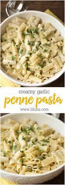 pasta recipes cream garlic penne pasta lil luna