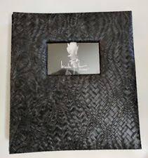Black Leather Scrapbook Black Leather Scrapbook Album Ebay