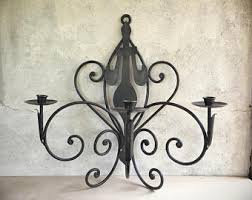 Wrought Iron Chandeliers Mexican Vintage Wall Mounted Mexican Wrought Iron Candle Holder