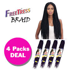 how many pack hair for box braids multi pack long large box braid freetress synthetic crochet