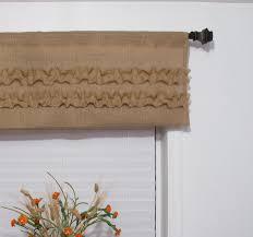 natural burlap window valance ruffled rustic curtain custom