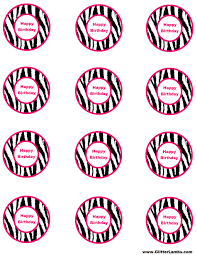 glitter lambs pink zebra food label cards and free printable