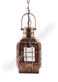 Ship Light Fixture Electric Lantern Ship Lantern Antique Brass Chiefs L 10