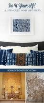 do it yourself 16 stenciled wall art ideas painting wall