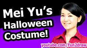 mei yu u0027s halloween costume how to draw tutorial youtube