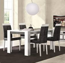 furniture pure white dining room set with contemporary brown