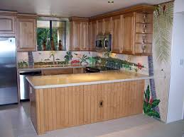 backsplashes hawaii kitchen design tropical tile murals