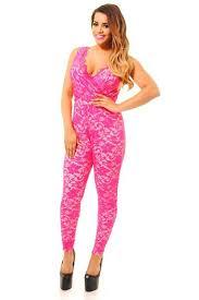 lace jumpsuits pink black cap sleeve floral lace jumpsuits rompers length