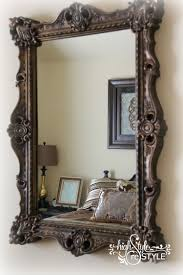 how to update a mirror with paint metallic paint mirror mirror