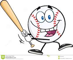 baseball ball and bat cartoon clip art stock vector image 45139941